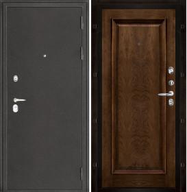 Дверь Колизей темное серебро Тоскана дуб brandy шпон