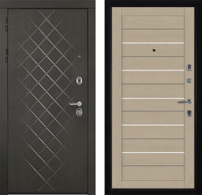 Дверь Президент Люкс 2127 кремовый Soft-touch экошпон