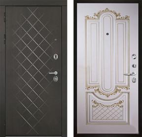 Дверь Президент Люкс Александрия сл кость с золотой патиной эмаль