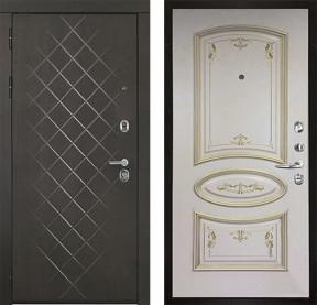 Дверь Президент Люкс Багет 3 слкость с золотой патиной эмаль