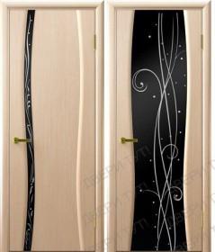 Дверь Диамант беленый дуб