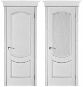 Дверь Лира серебряная патина